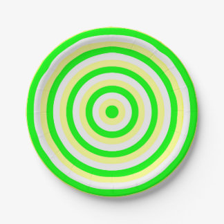 Paper Plates with Concentric Circles Design