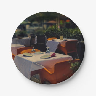 Paper plate's, with outside table setting paper plate