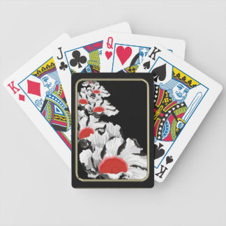 Paper Poppies Flower Art Playing Cards