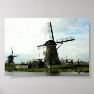 Paper Poster Dutch Windmills