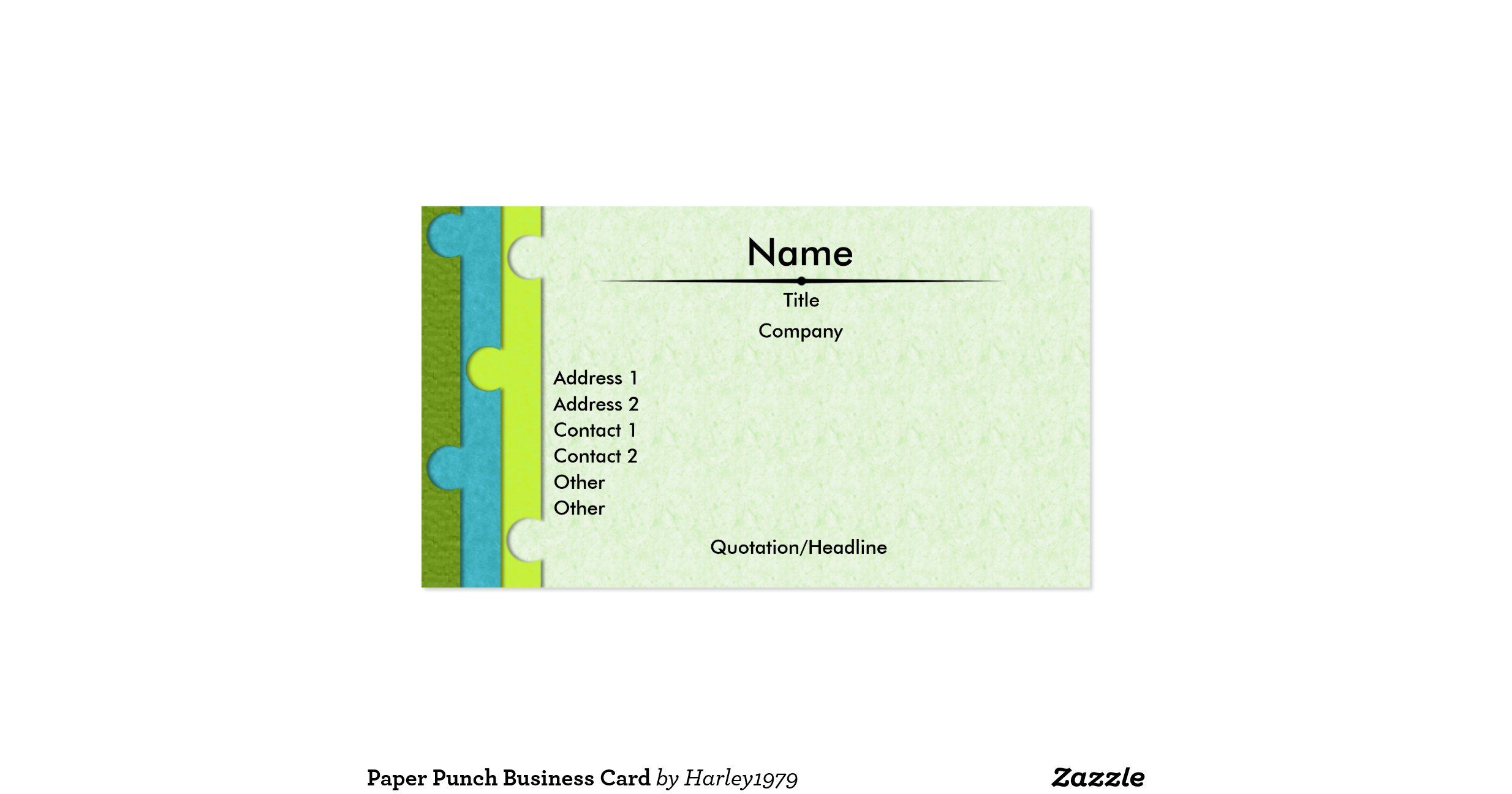 5 Punch Card Templates