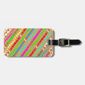 Paper Punch Strips PATCH ART by Navin Joshi Luggage Tag