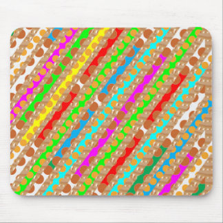 Paper Punch Strips PATCH ART by Navin Joshi Mouse Pad
