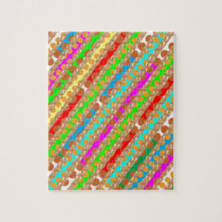 Paper Punch Strips PATCH ART by Navin Joshi Jigsaw Puzzle