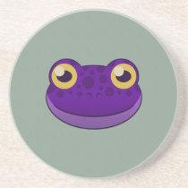 Paper Purple Frog Sandstone Coaster