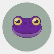 Paper Purple Frog Sticker Sheet