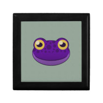 Paper Purple Frog Hinged Gift Box
