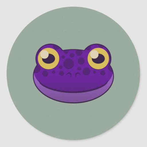 Paper Purple Frog Stickers