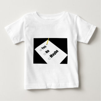 Paper questionnaire yes no maybe pencil t shirt