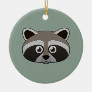 Paper Raccoon Ceramic Ornament