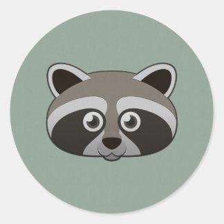 Paper Raccoon Classic Round Sticker