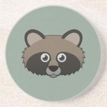 Paper Raccoon Dog Sandstone Coaster