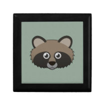 Paper Raccoon Dog Hinged Gift Box