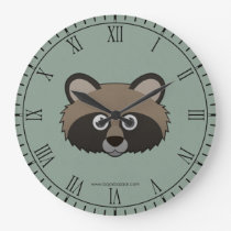 Paper Raccoon Dog Wallclock