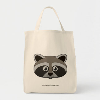 Paper Raccoon Tote Bag
