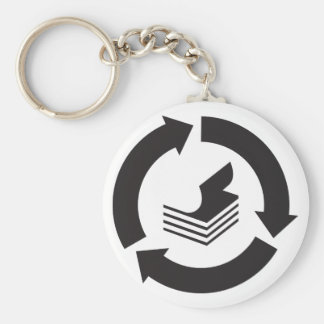 Paper Recycling Keychain
