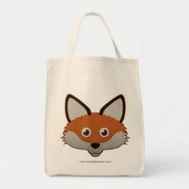Paper Red Fox Tote Bag
