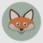 Paper Red Fox Stickers