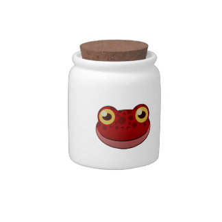 Paper Red Frog Candy Jar