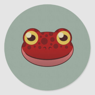 Paper Red Frog Classic Round Sticker