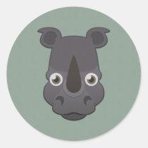 Paper Rhino Sticker Sheet