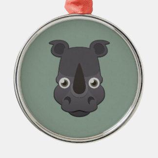 Paper Rhino Metal Ornament