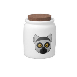 Paper Ring-Tailed Lemur Candy Dish