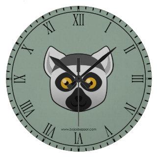 Paper Ring-Tailed Lemur Large Clock