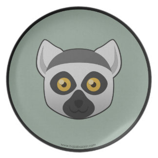 Paper Ring-Tailed Lemur Plate