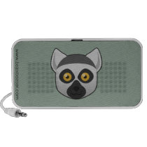 Paper Ring-Tailed Lemur Doodle Speaker