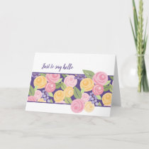 Paper Roses Floral Band Note Card -Customize