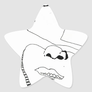 Paper Samurai Star Sticker