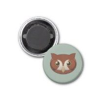 Paper Screech-Owl Magnet