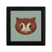 Paper Screech-Owl Hinged Gift Box