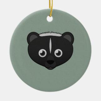 Paper Skunk Christmas Tree Ornaments