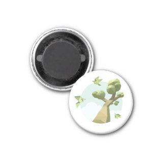 Paper Skyland 1 Inch Round Magnet