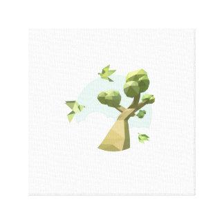 Paper Skyland Canvas Print