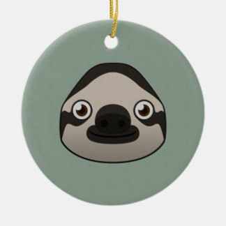 Paper Sloth Ceramic Ornament