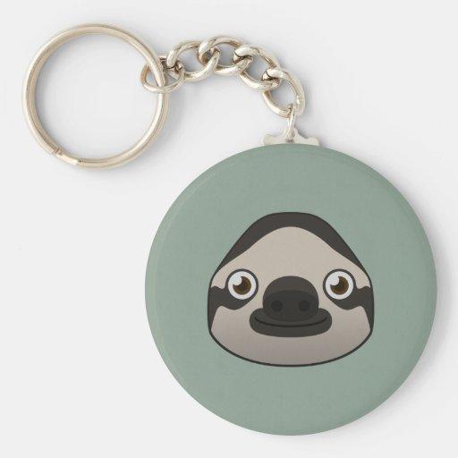Paper Sloth Key Chains