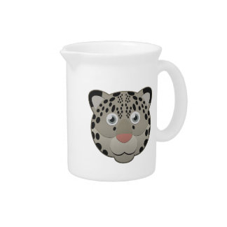 Paper Snow Leopard Beverage Pitcher