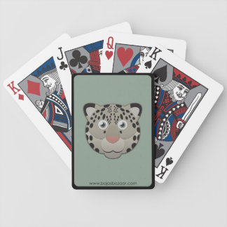 Paper Snow Leopard Bicycle Playing Cards