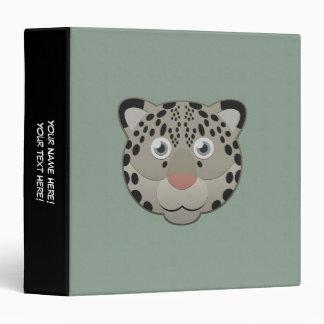Paper Snow Leopard Binder