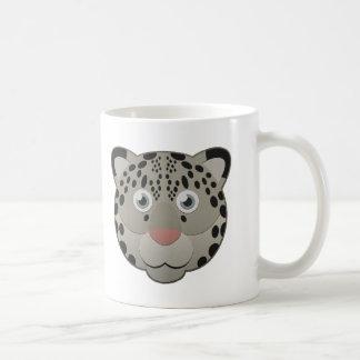 Paper Snow Leopard Coffee Mug