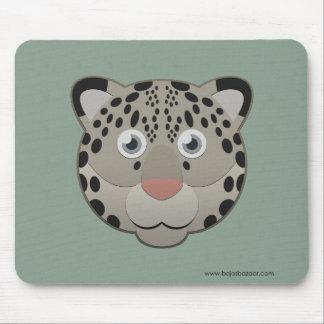 Paper Snow Leopard Mouse Pad