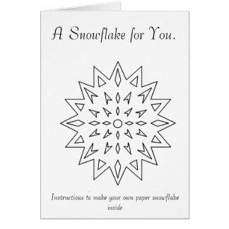 Paper Snowflake Ornament Card