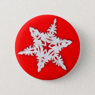 Paper Snowflake Pinback Button