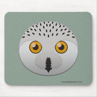 Paper Snowy Owl Mousepads