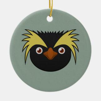 Paper Southern Rockhopper Penguin Ceramic Ornament