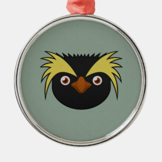 Paper Southern Rockhopper Penguin Metal Ornament