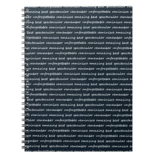 paper-spec NAVYBLUE TYPOGRAPHY MOTIVATIONAL SAYING Spiral Note Book